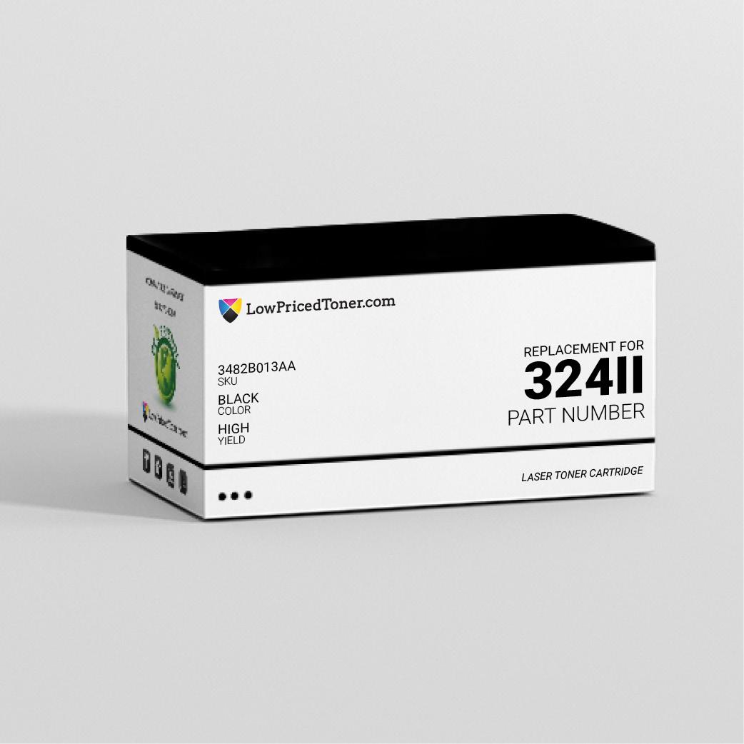 Canon 3482B013AA 324 II Compatible Black Laser Toner Cartridge High Yield