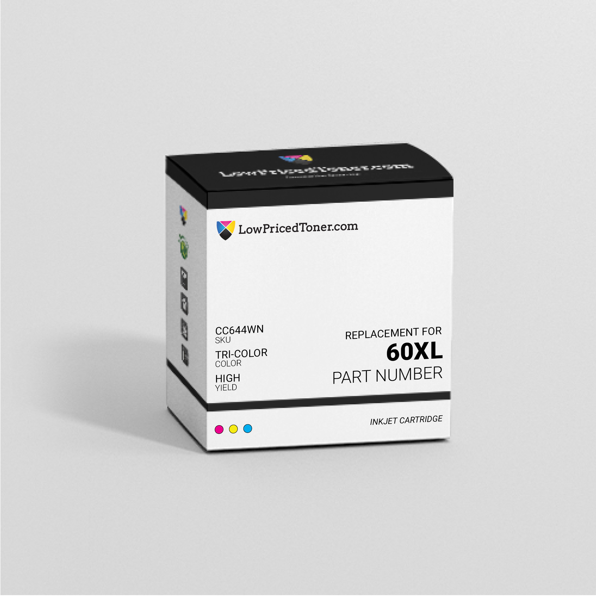 HP CC644WN 60XL Remanufactured TriColor Ink Cartridge High Yield