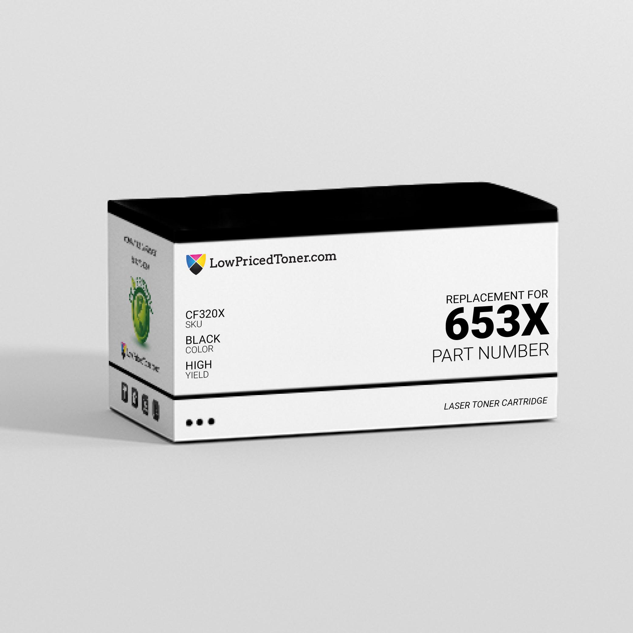 HP CF320X 653X Compatible Black Laser Toner Cartridge High Yield