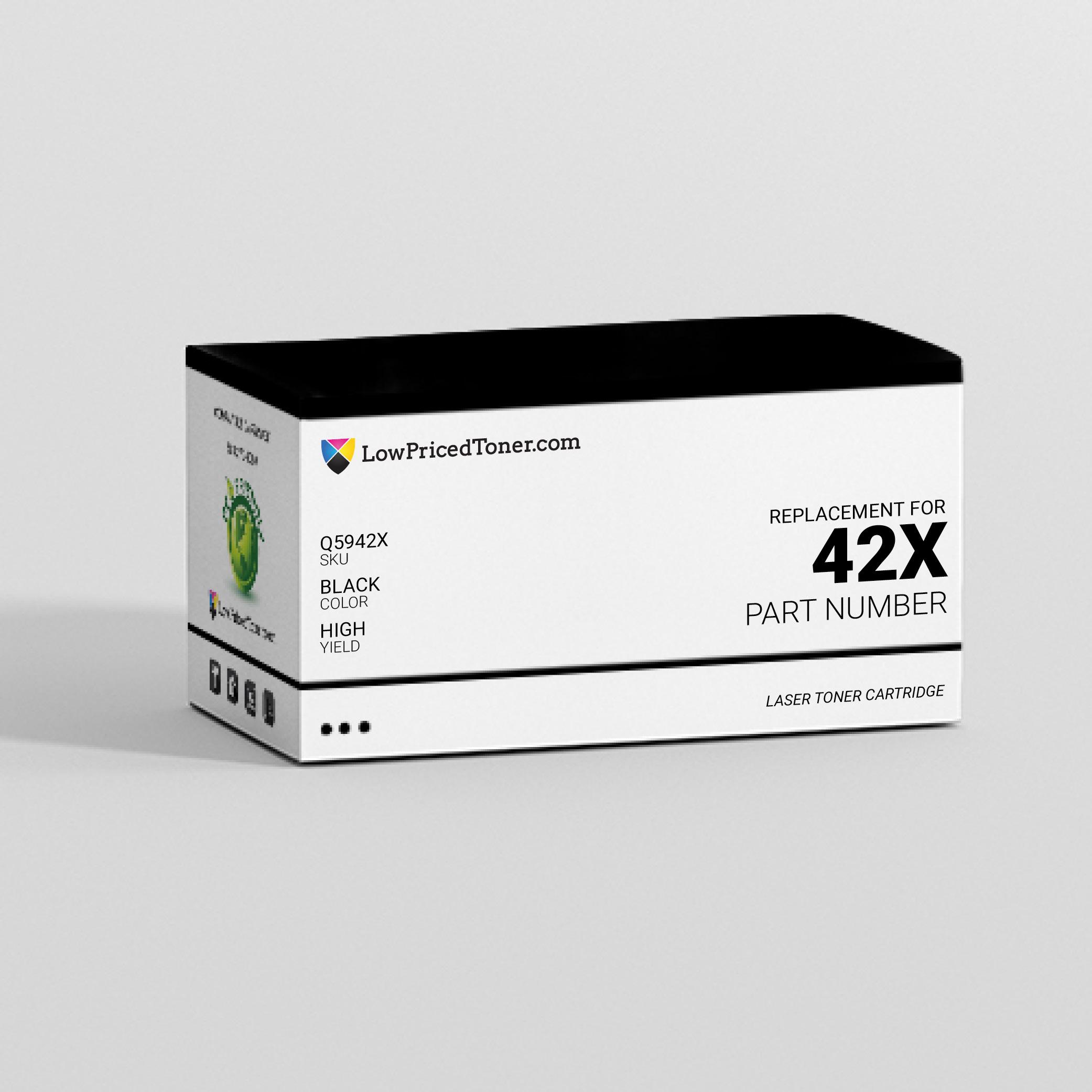 HP Q5942X 42X Compatible Black Laser Toner Cartridge High Yield