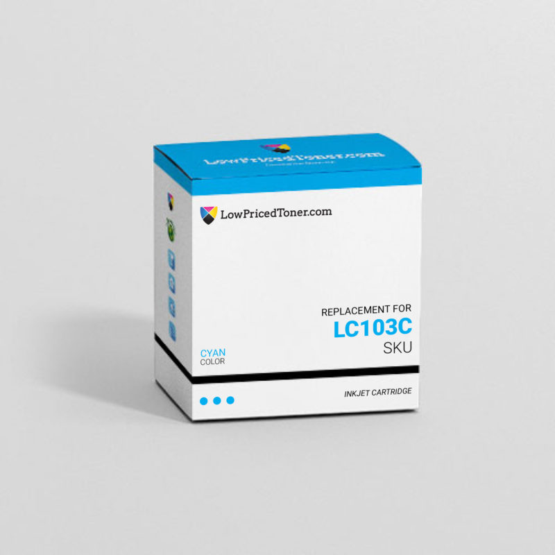 Brother LC103C Remanufactured Cyan Ink Cartridge High Yield