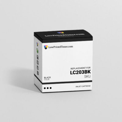 Brother LC203BK Remanufactured Black Ink Cartridge High Yield