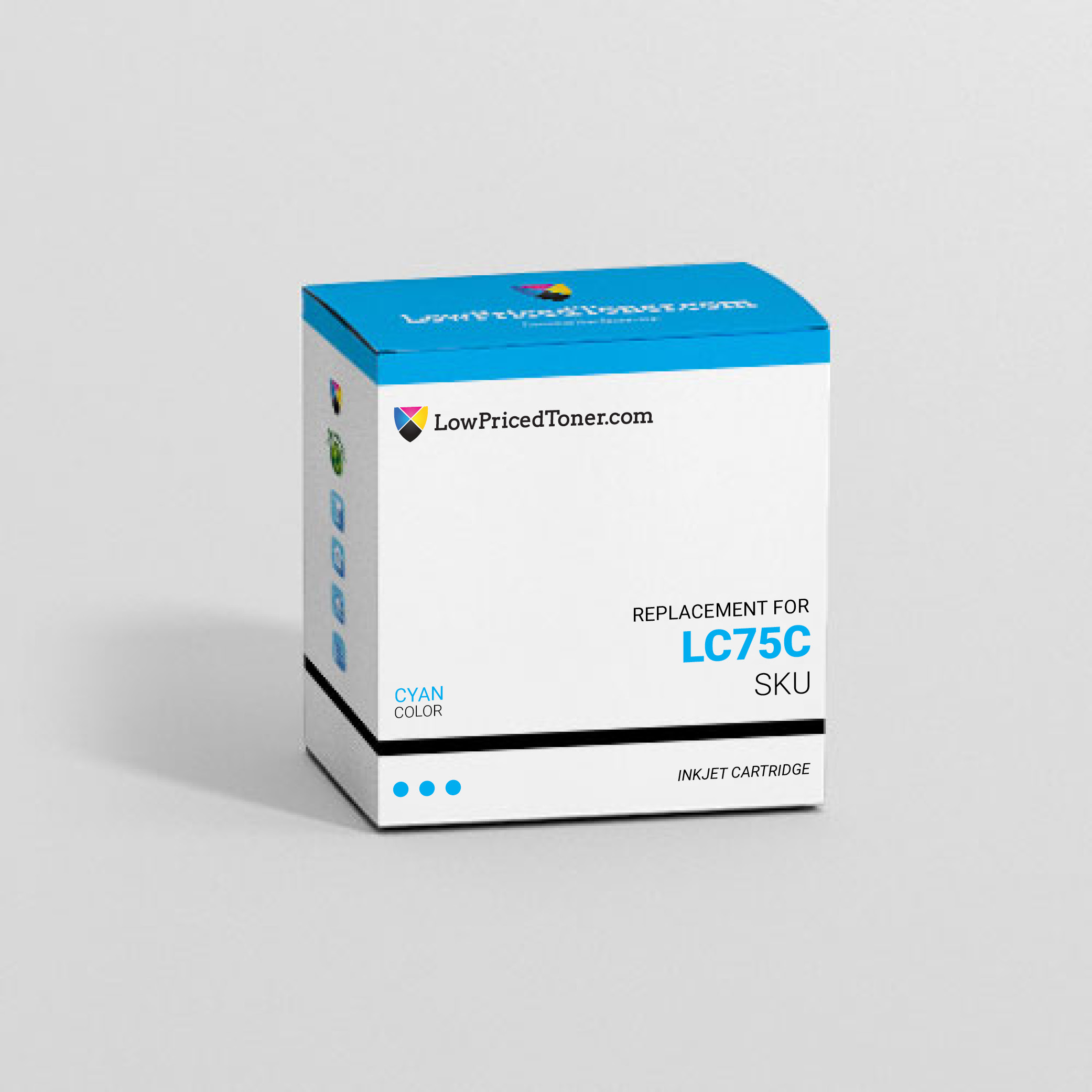 Brother LC75C Remanufactured Cyan Ink Cartridge