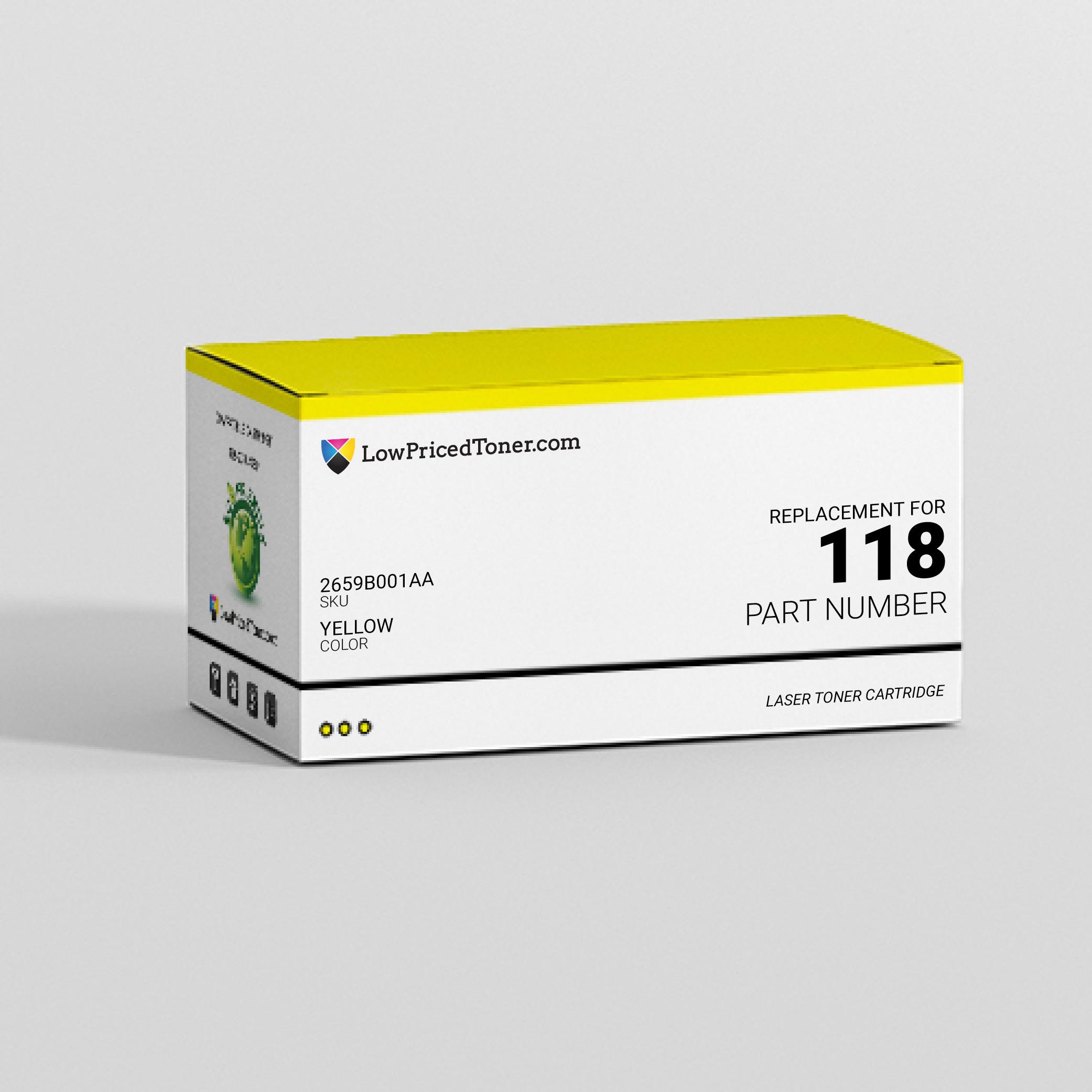 Canon 2659B001AA 118 Compatible Yellow Laser Toner Cartridge
