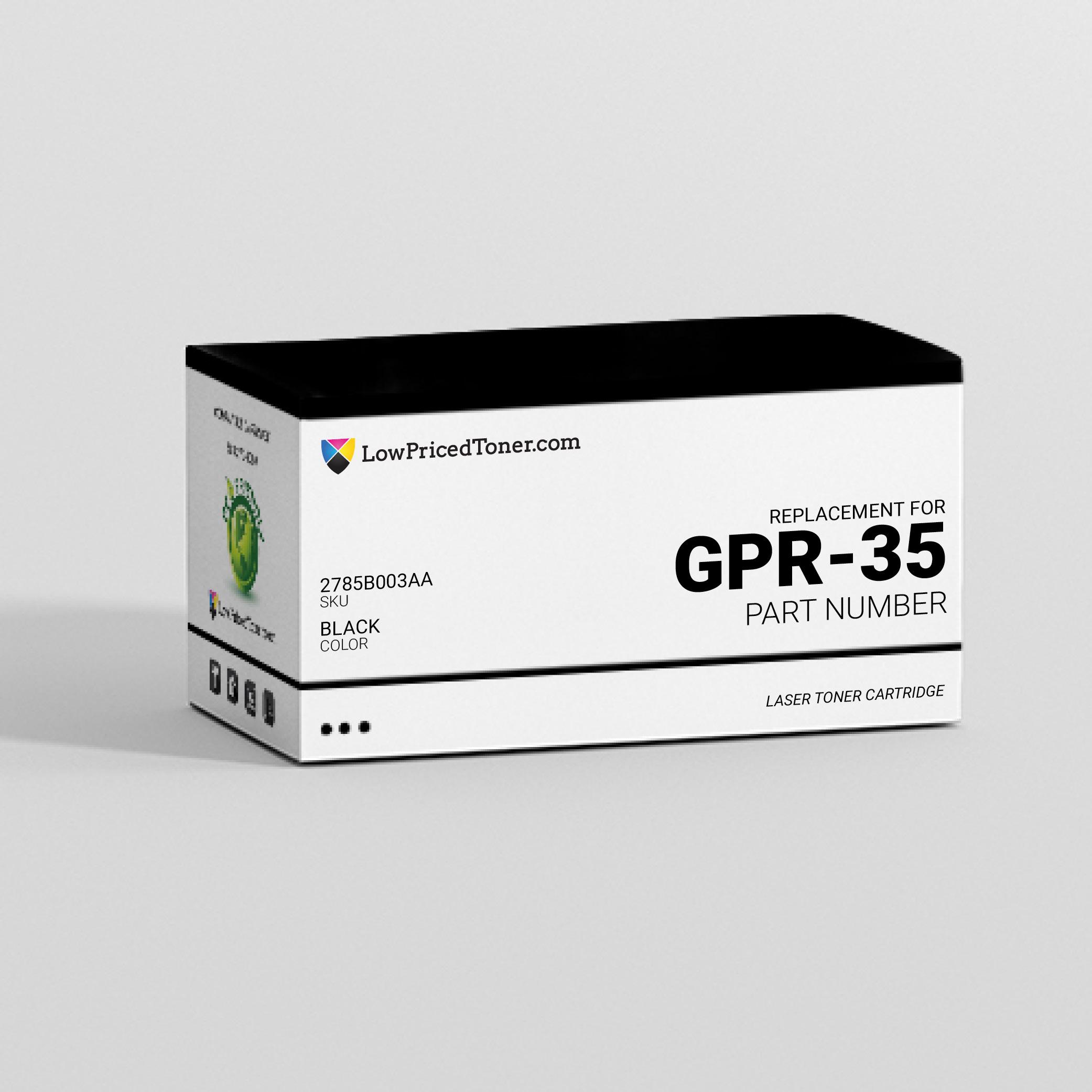 Canon 2785B003AA GPR-35 Compatible Black Laser Toner Cartridge