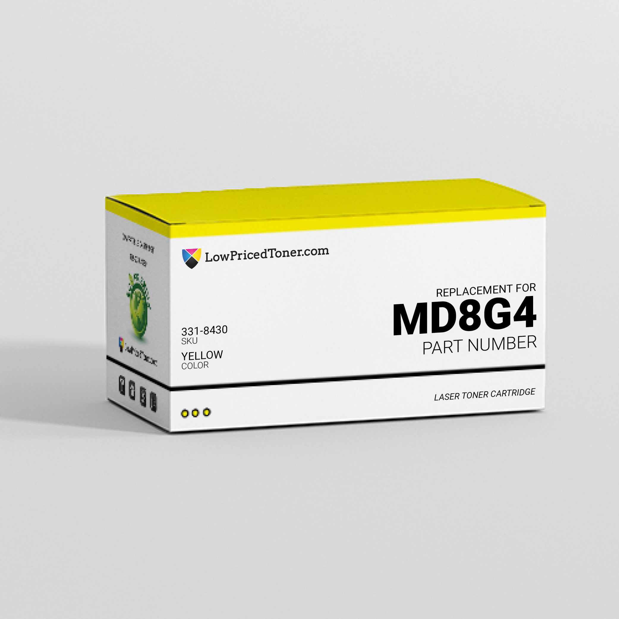 Dell 331-8430 MD8G4 Compatible Yellow Laser Toner Cartridge