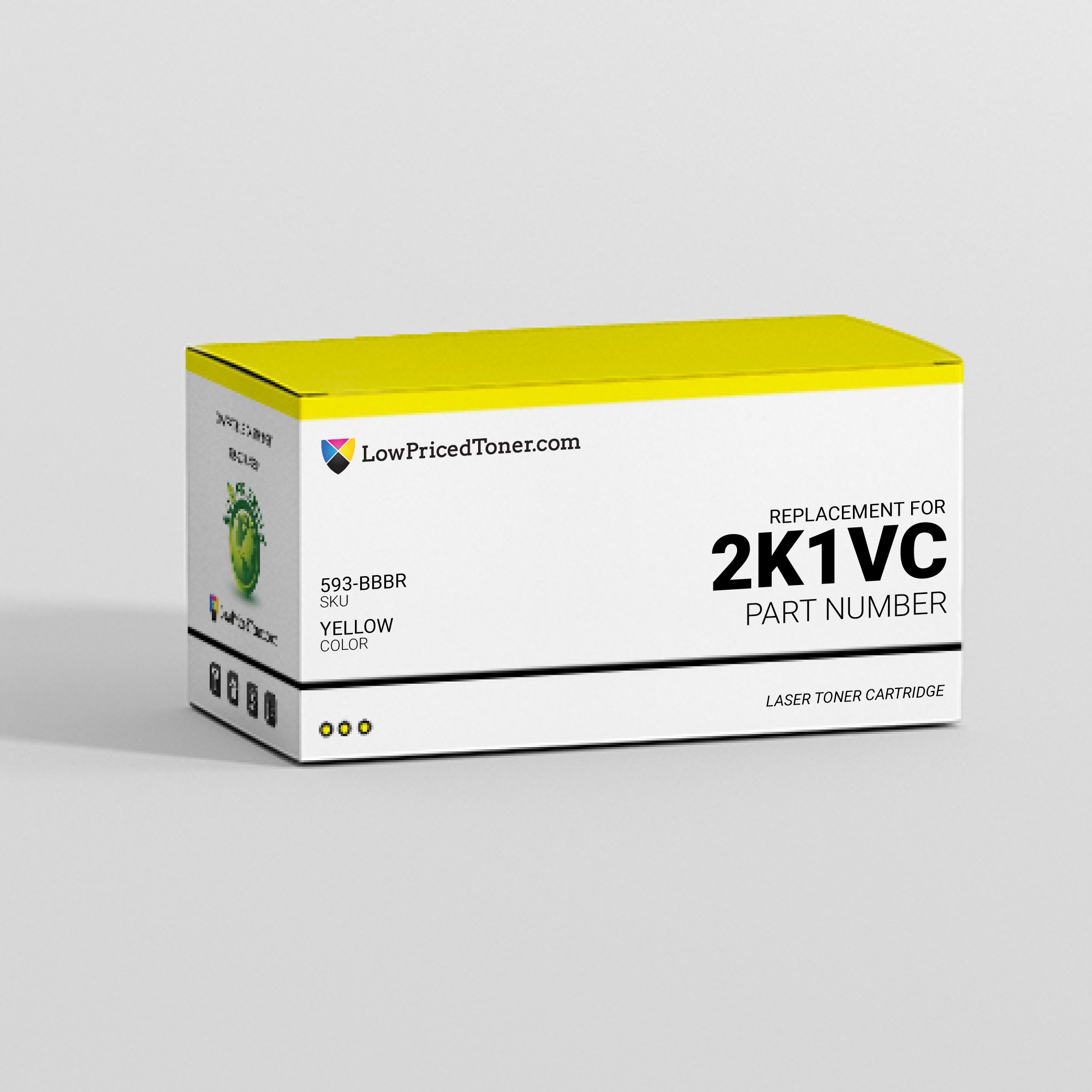 Dell 593-BBBR 2K1VC Compatible Yellow Laser Toner Cartridge