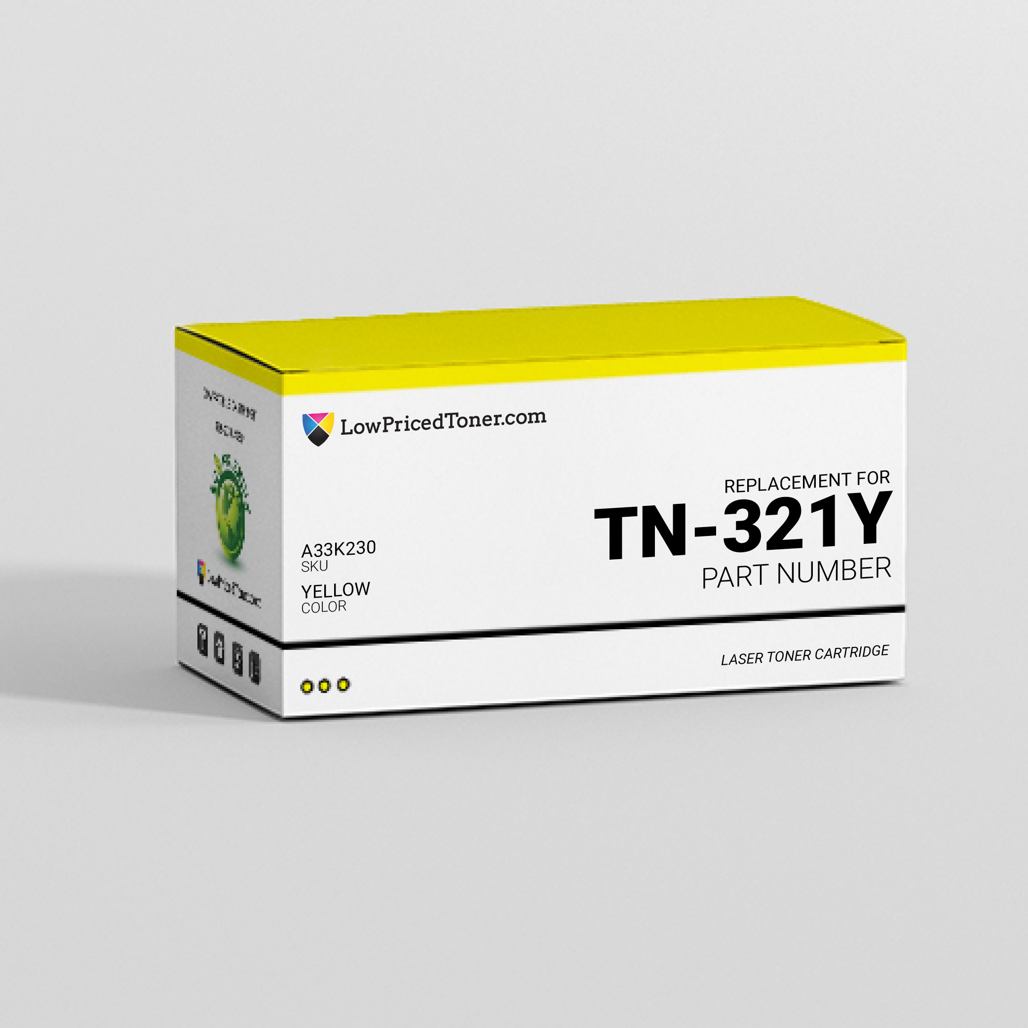 Develop and Konica and Minolta and Muratec and Olivetti A33K230 TN-321Y Compatible Yellow Laser Toner Cartridge