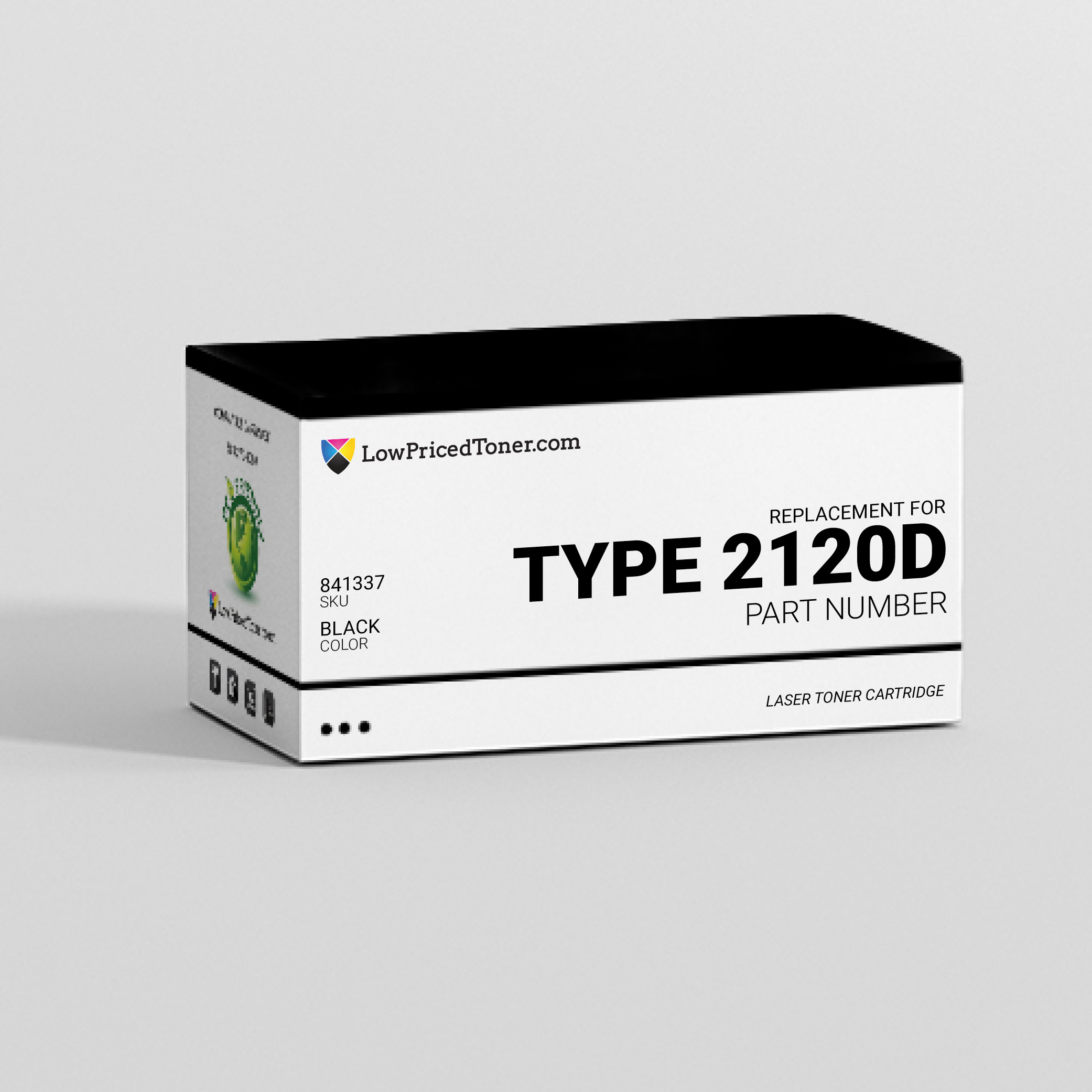 Gestetner and Lanier and Ricoh and Savin and Nashuatec 841337 Type 2120D Compatible Black Laser Toner Cartridge
