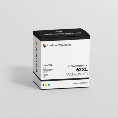 HP C2P07AN 62XL Remanufactured TriColor Ink Cartridge High Yield