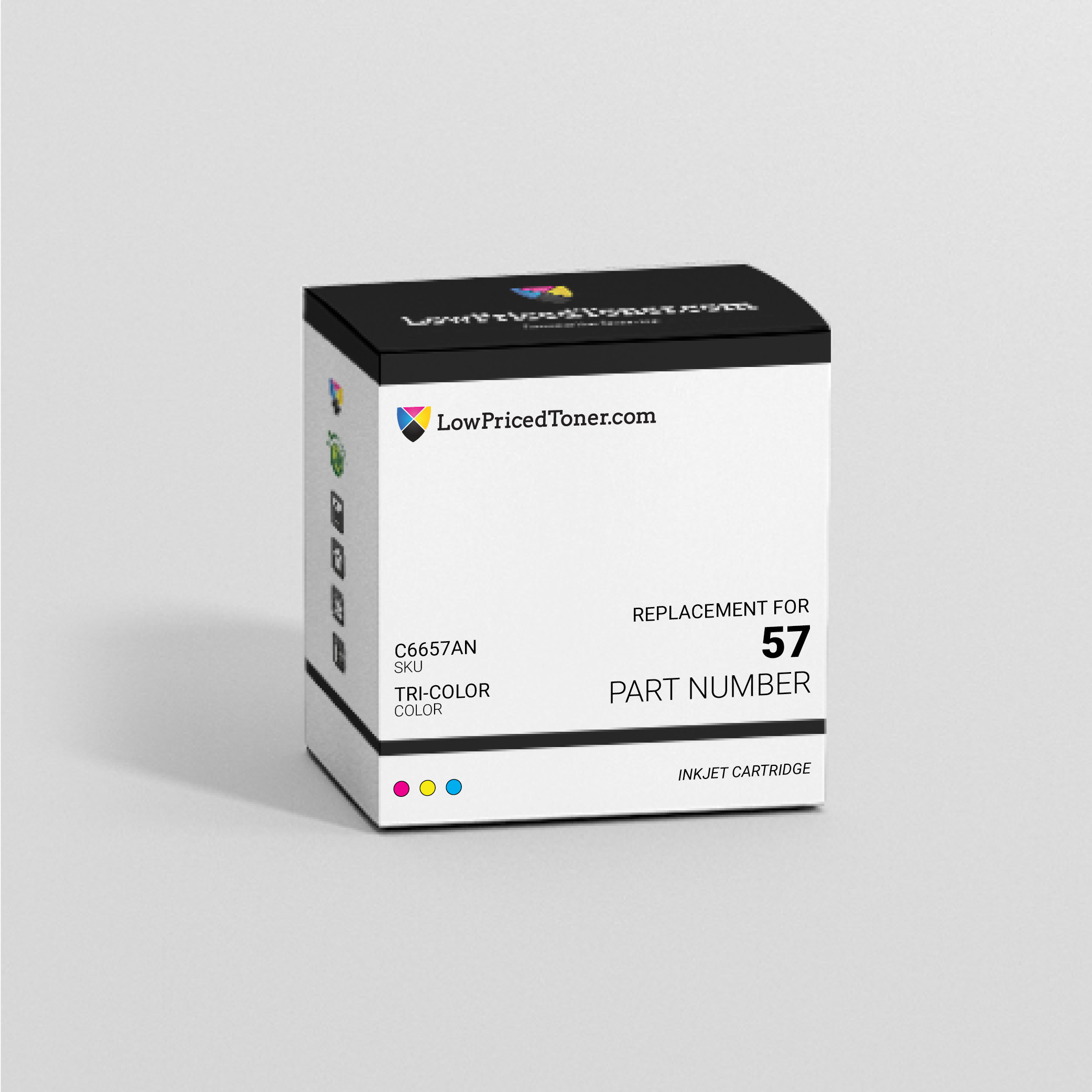 HP C6657AN 57 Remanufactured TriColor Ink Cartridge