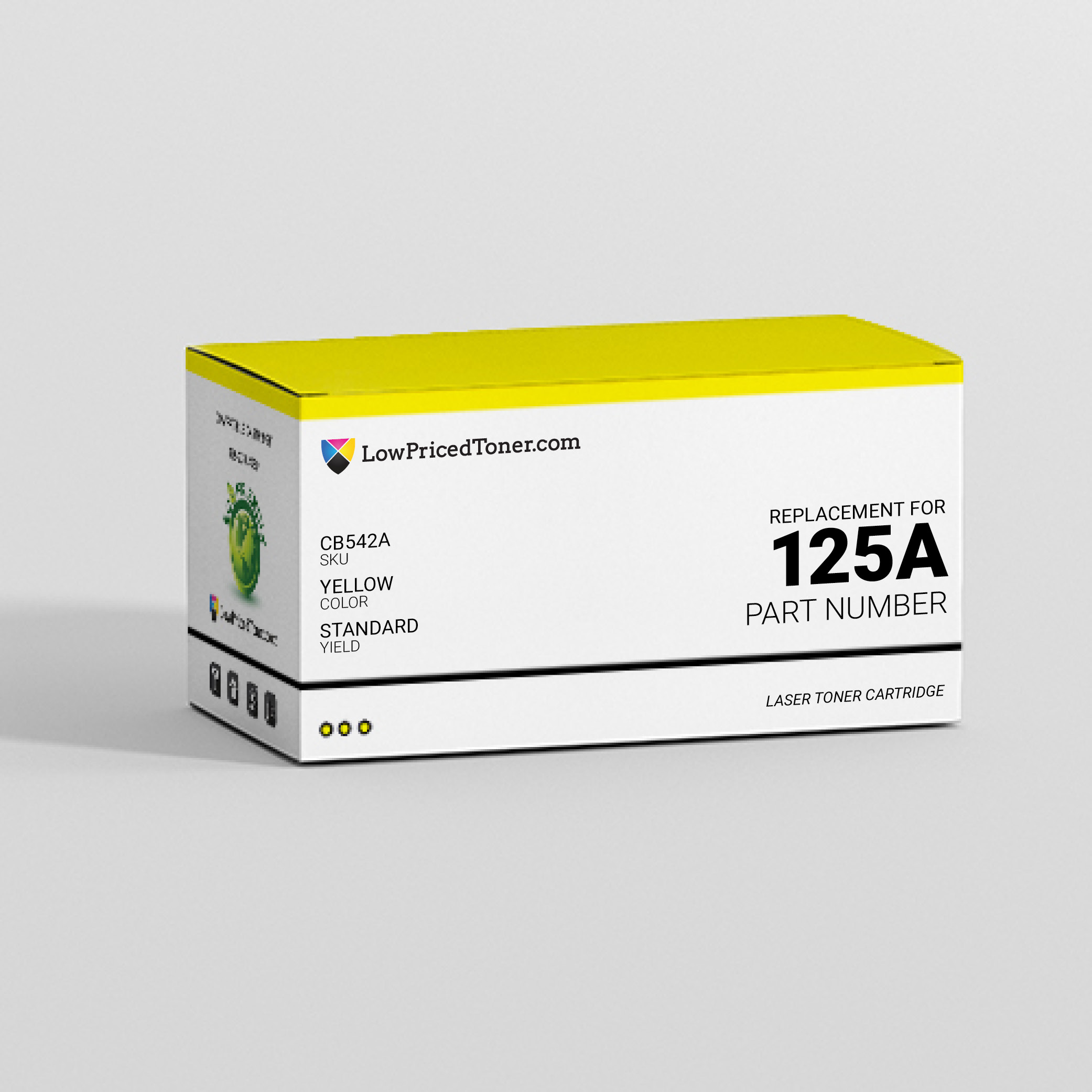 HP CB542A 125A Compatible Yellow Laser Toner Cartridge