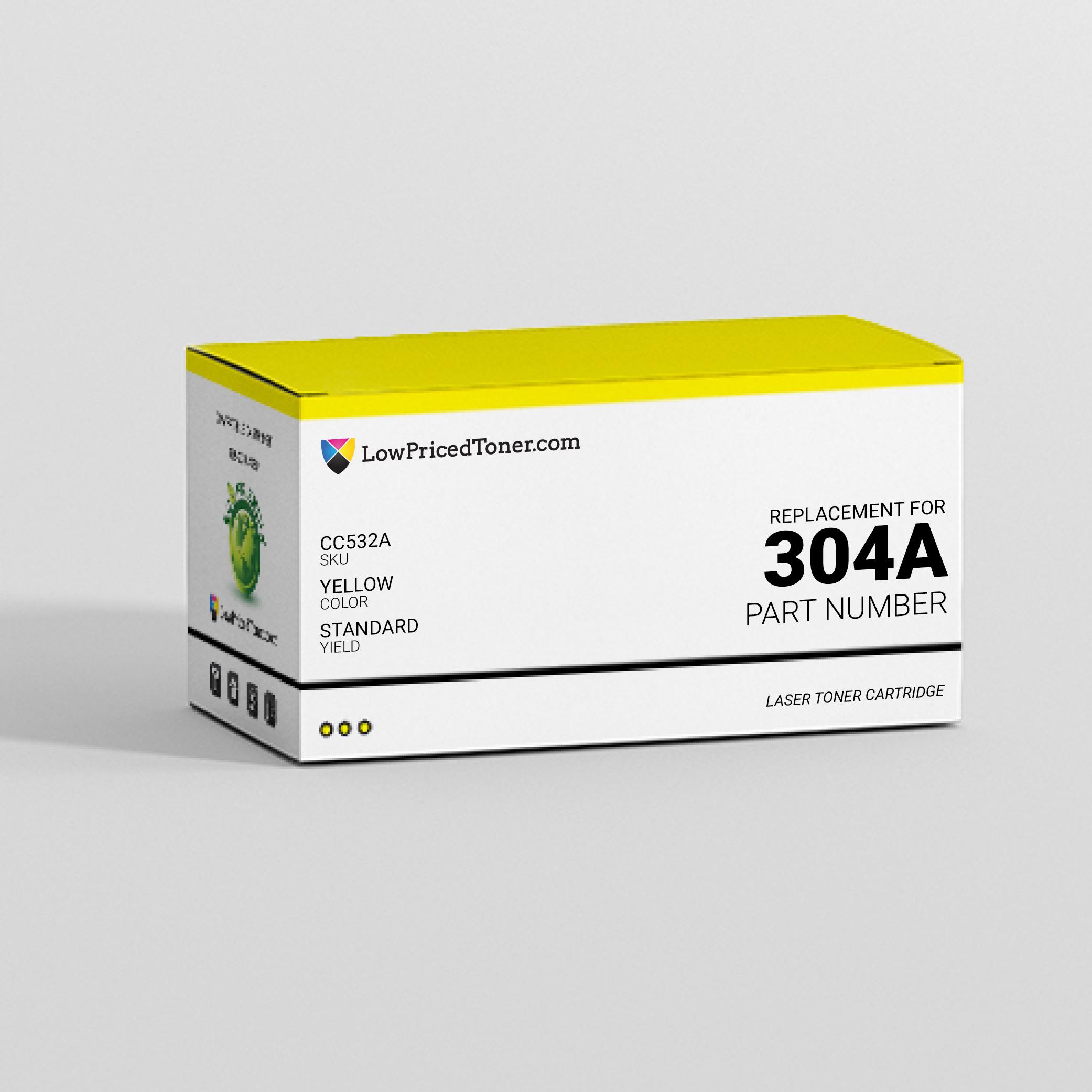 HP CC532A 304A Compatible Yellow Laser Toner Cartridge