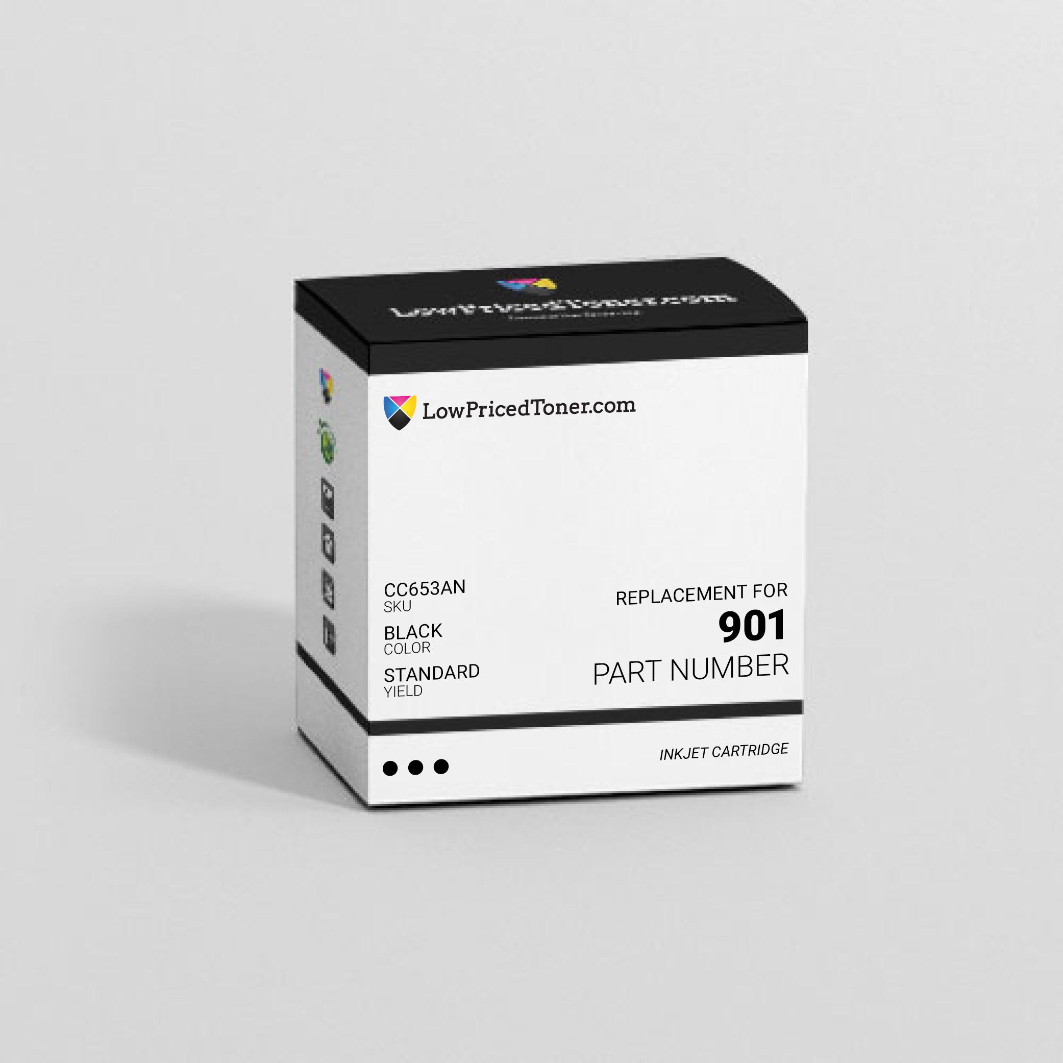HP CC653AN 901 Remanufactured Black Ink Cartridge