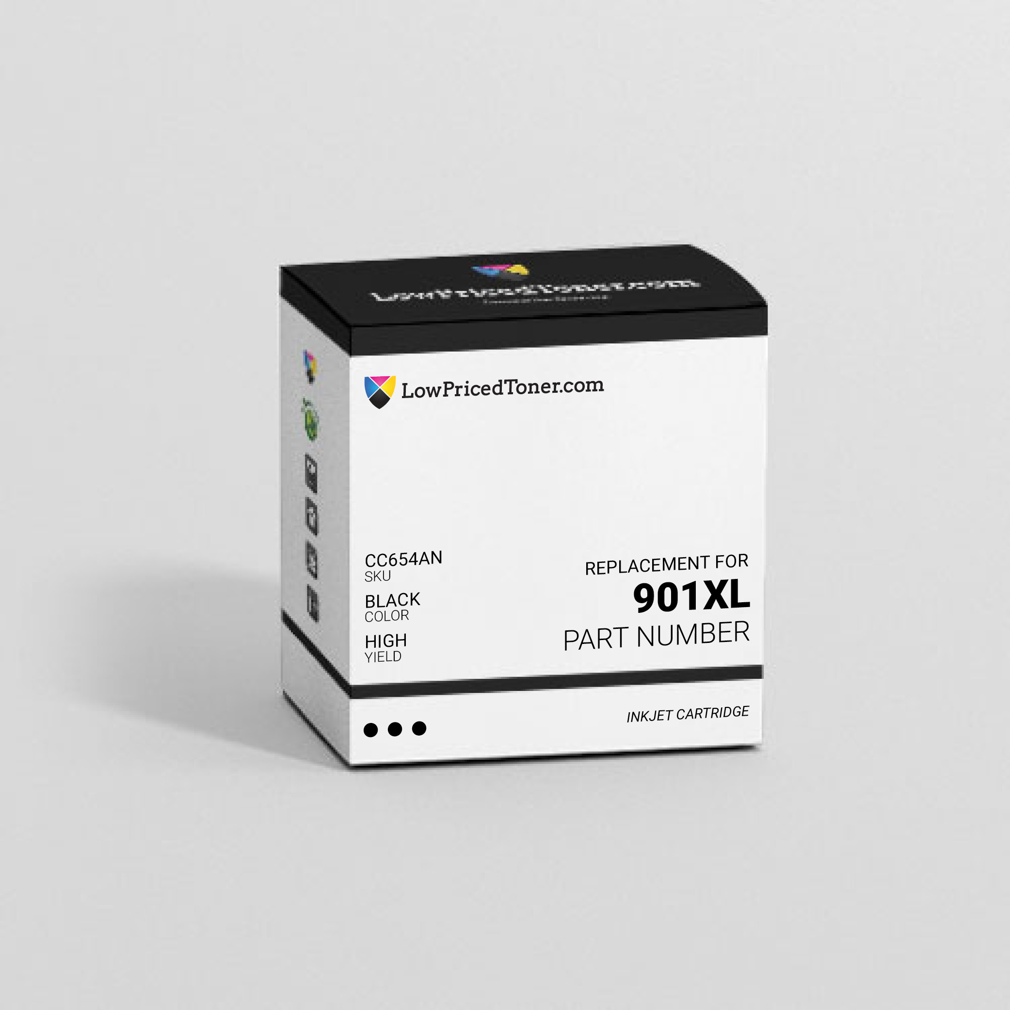 HP CC654AN 901XL Remanufactured Black Ink Cartridge High Yield