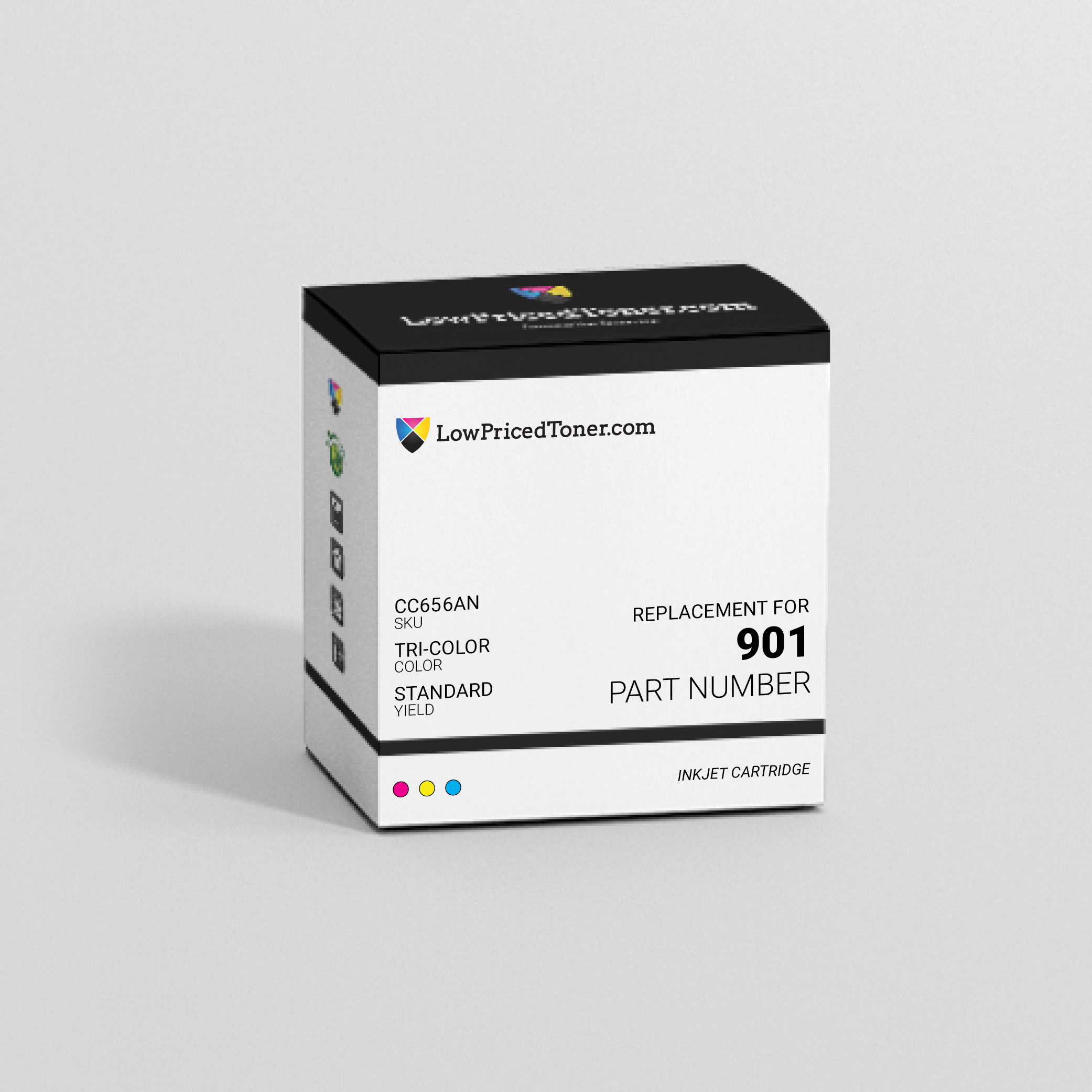 HP CC656AN 901 Remanufactured TriColor Ink Cartridge