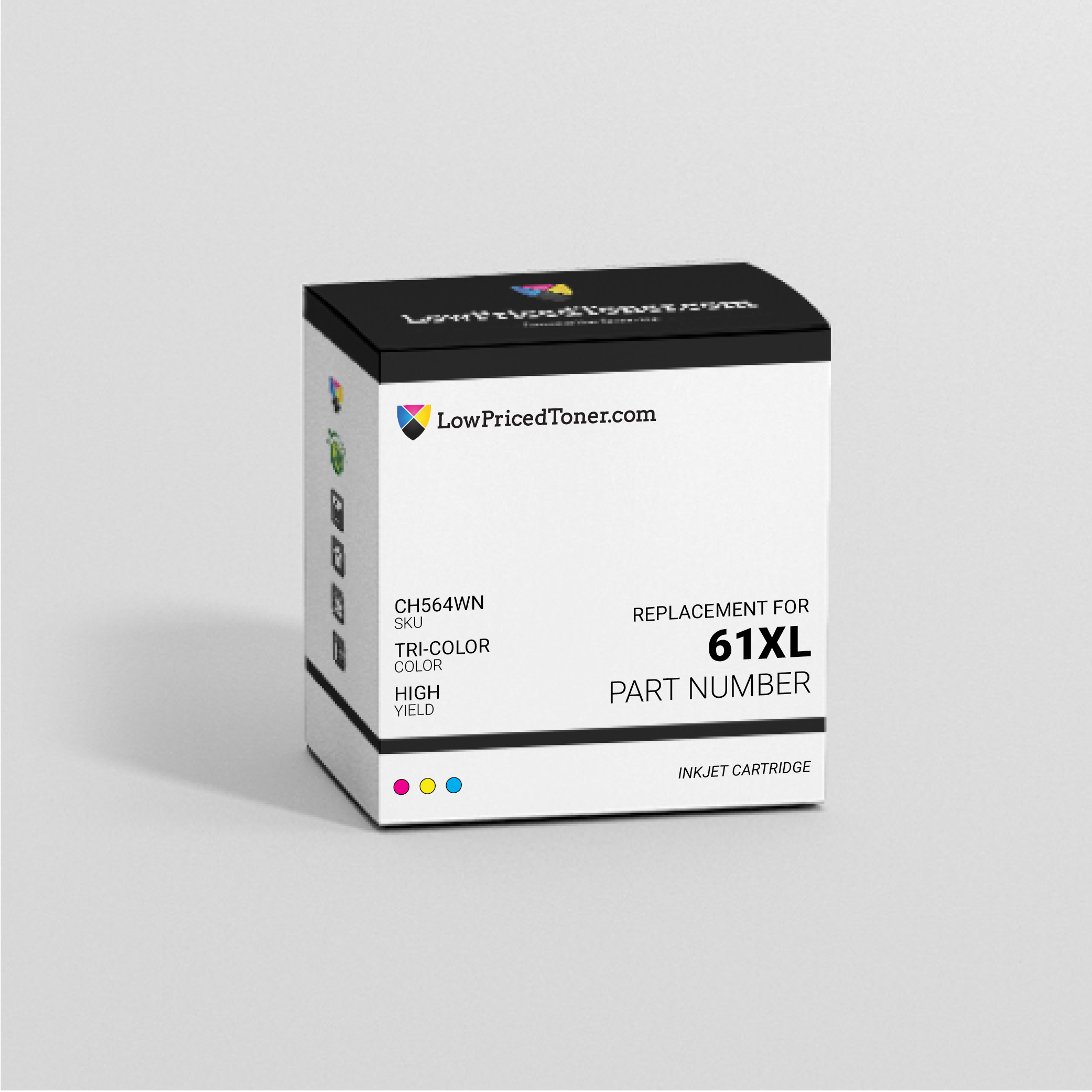 HP CH564WN 61XL Remanufactured TriColor Ink Cartridge High Yield
