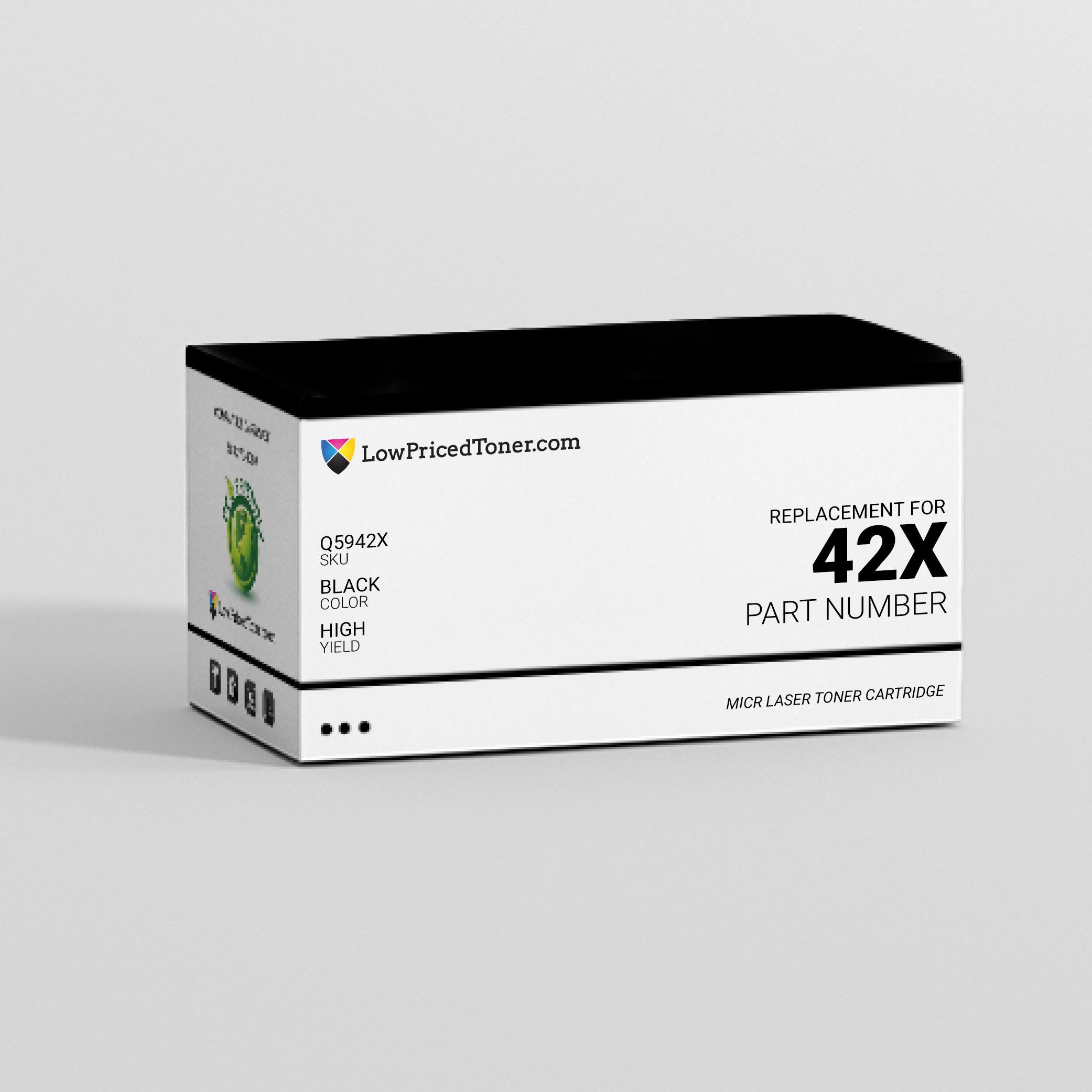 HP Q5942X 42X Remanufactured Black MICR Laser Toner Cartridge High Yield