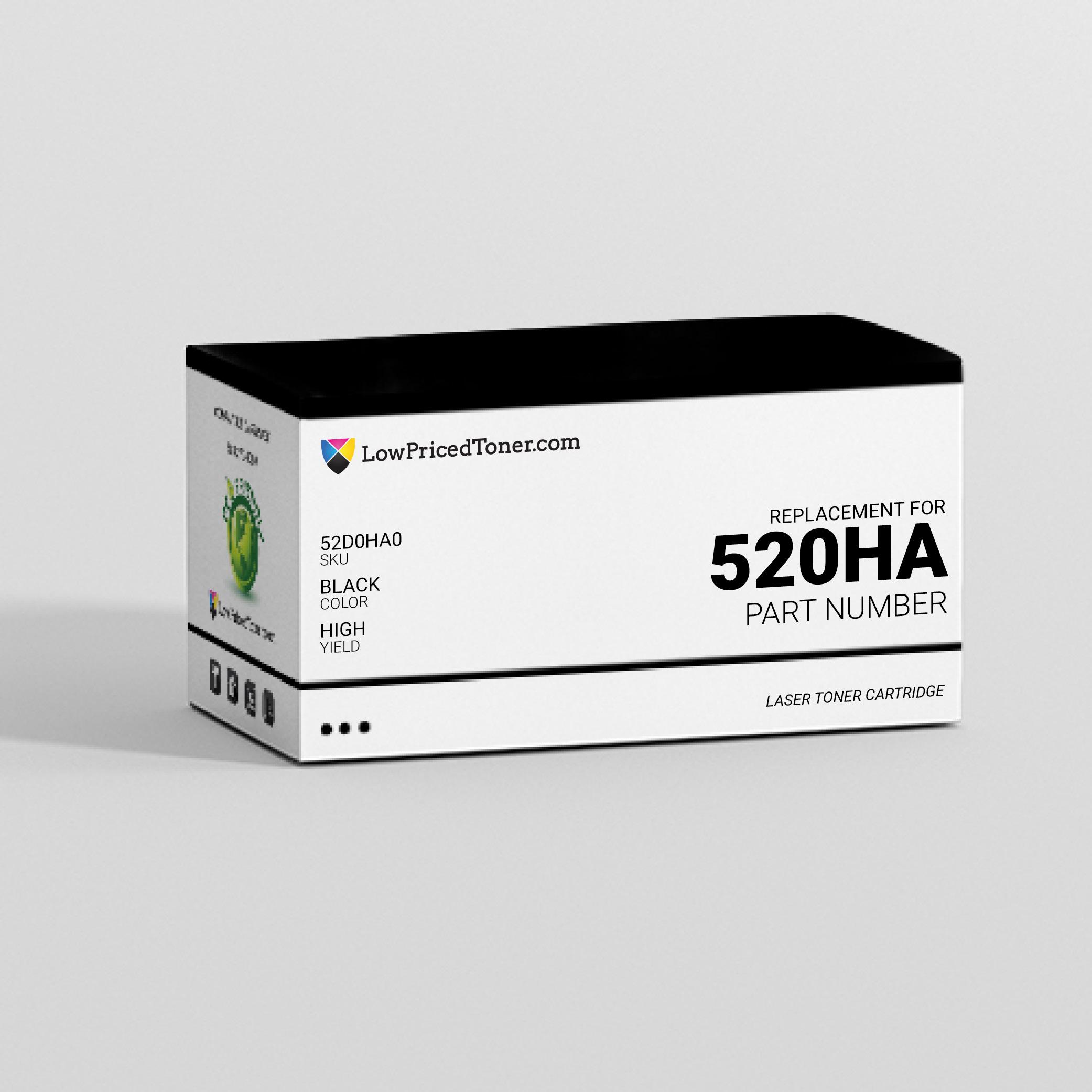 Lexmark 52D0HA0 520HA Remanufactured Black Laser Toner Cartridge High Yield