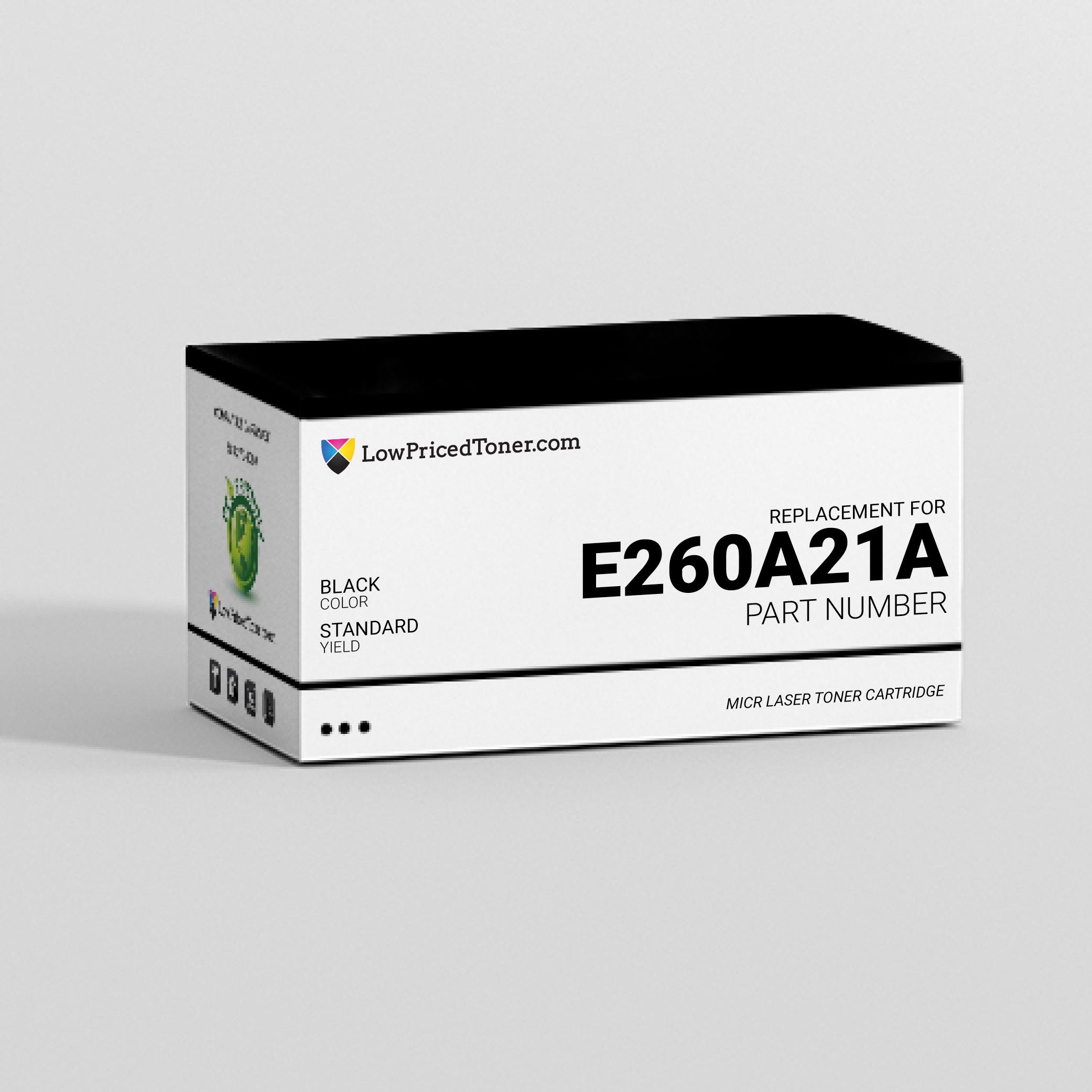 Lexmark E260A21A Remanufactured Black MICR Laser Toner Cartridge