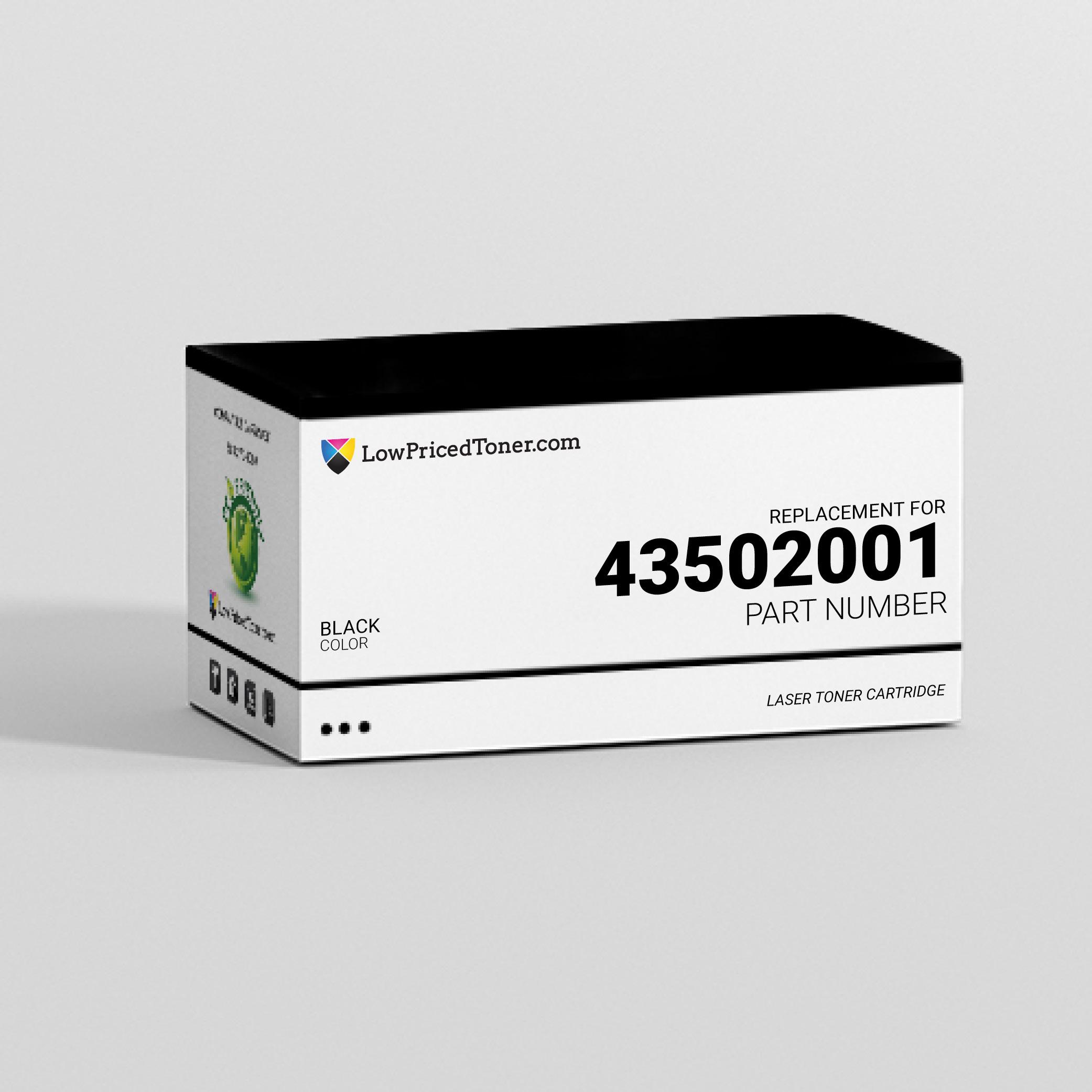 Okidata 43502001 Compatible Black Laser Toner Cartridge