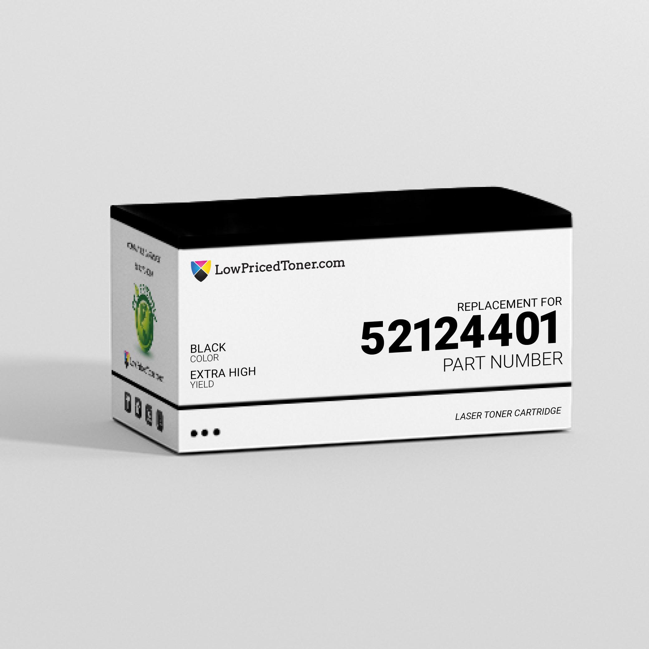 Okidata 52124401 Remanufactured Black Laser Toner Cartridge Extra High Yield